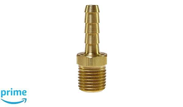 3//8 Barb x 1//4 NPT Male Brass Coilhose Pneumatics B0604-BAG Hose Barb 3//8