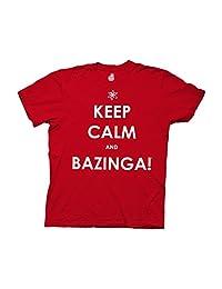 Ripple Junction Big Bang Theory Keep Calm and Bazinga Adult T-Shirt