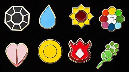 Pokemon Gym Badges - Kanto GEN 1 Indigo League Limited