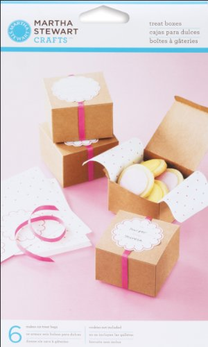 Martha Stewart Crafts Vintage Girl Kraft Treat Boxes