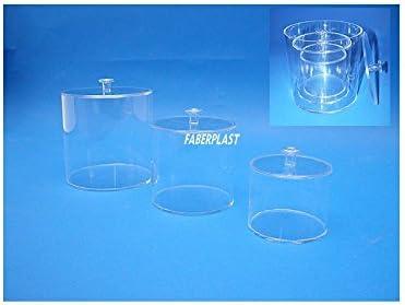 Faberplast Caja Cilíndrica, Metacrilato, 12x12x11 cm: Amazon.es: Hogar