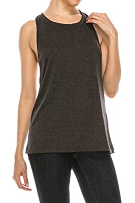 EttelLut Twisted Racerback Yoga Exercise Athletic Gym Fitness Workout Loose Tank Tops