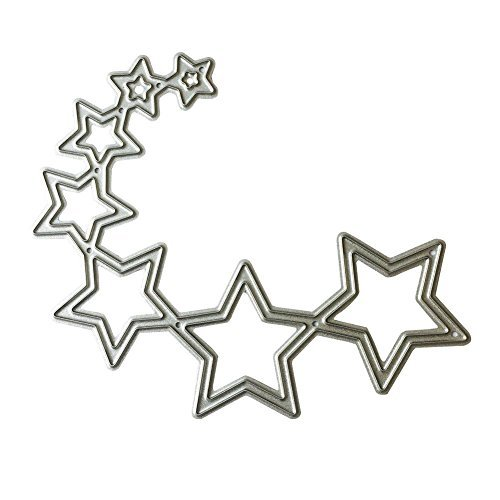 Whitelotous Metal Cutting Dies DIY Stars Stencil Scrapbooking Album Embossing Paper Craft Template(curved (Curved Star)