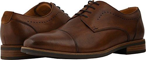 Florsheim Men's Uptown Cap Toe Oxford Cognac Leather/Suede 13 EEE - Oxford Suede Cap