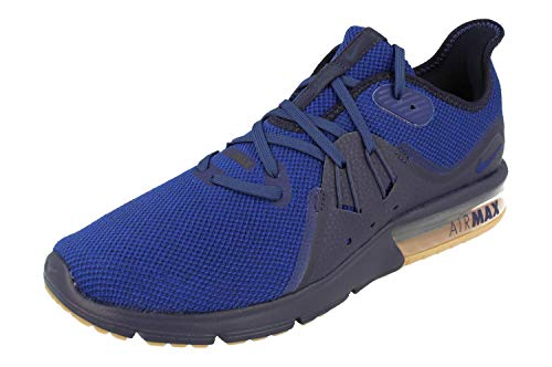 Nike Air Max Sequent 3 Mens Running Trainers 921694 Sneakers Shoes (UK 11 US 12 EU 46, Obsidian deep Royal Blue 405)