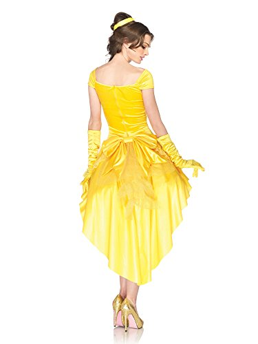 [Leg Avenue Disney. Princess Belle Dress, Yellow, Small/Medium] (Sexy Princess Belle Costumes)