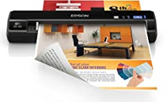 """Stay organized, wherever business takes you, with the WorkForce DS-40 wireless portable document scanner. At 1.1 lb, you can easily slip it into your briefcase and go. Quickly scan documents, business cards and more — up to 8.5"""" x 36"""" — to sm..."""