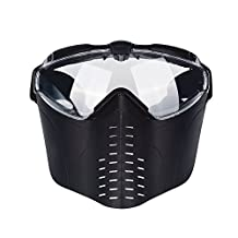 CyberDyer Full Face Tactical Airsoft Mask Built-in Electric Fan Perfect For Paintball And Laser Strike