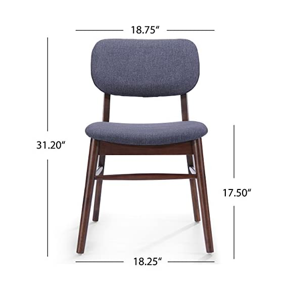 Christopher Knight Home Colette Fabric Dining Chairs, 2-Pcs Set, Charcoal -  - kitchen-dining-room-furniture, kitchen-dining-room, kitchen-dining-room-chairs - 4145mKzR 9L. SS570  -