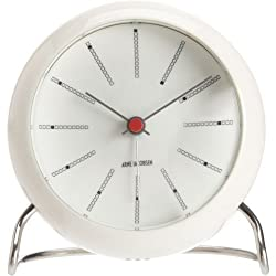 Arne Jacobsen Table Clock Banker in White