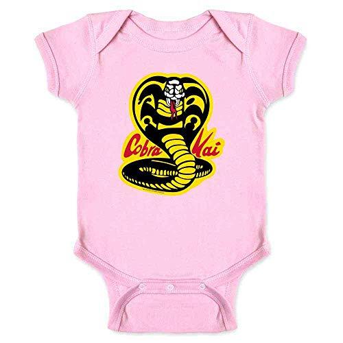 Cobra Kai Karate Kid Dojo Retro Martial Arts Pink 12M Infant Bodysuit