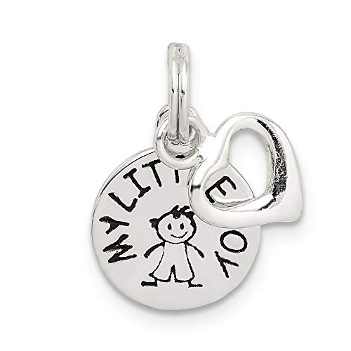925 Sterling Silver Enameled My Little Boy 2 Piece Pendant Charm Necklace Son Fine Jewelry Gifts For Women For Her