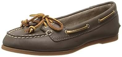 Sperry Top-Sider Women's Audrey Boat Shoe, Greige/Bronze, 5 M US