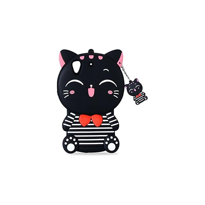 Mulafnxal Black Lucky Cat Case for HTC D