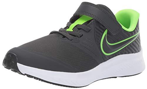 Nike Star Runner 2 (PSV) Sneaker, Anthracite/Electric Green - White, 12C Child US Little Kid