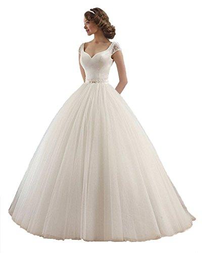 beaded angel sleeve wedding dress - 5