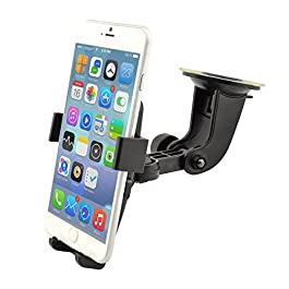 Rheme Cell Phone Mount,Universal Cradle Windshield for Apple, Samsung, HTC Strong Sticky Pad