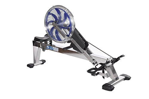 Stamina 35-1405 ATS Air Rower 1405 Rowing Machine, Air Resistance, LCD Fitness Monitor, Folding and Built-in Wheels, Chrome/Blue/Black by Stamina (Image #8)
