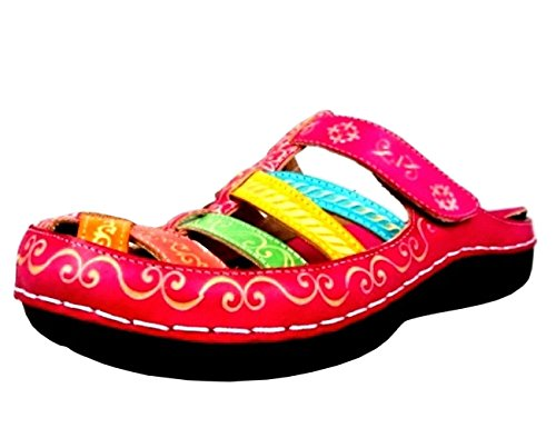 Laura Vita JD2183-54 Billy 54 Schuhe Damen Clogs Pantoletten, Schuhgröße:41;Farbe:Gelb