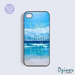 linJUN FENGiphone 6 plus 5.5 inch Case - Love Laugh Live Beach iPhone Cover