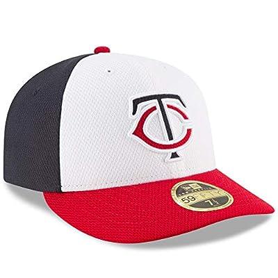 Minnesota Twins Low Profile Tri Tone Diamond Era Fitted Size 7 1/8 Hat Cap - Team Colors