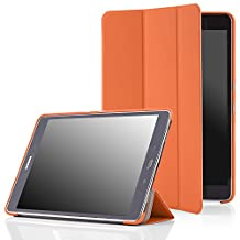 MoKo Samsung Galaxy Tab A 9.7 Case - Slim Lightweight Smart-shell Cover Case for 2015 Galaxy Tab A Tablet 9.7 inch (SM-T550 / P550), With Auto Wake / Sleep and S-pen Opening, ORANGE