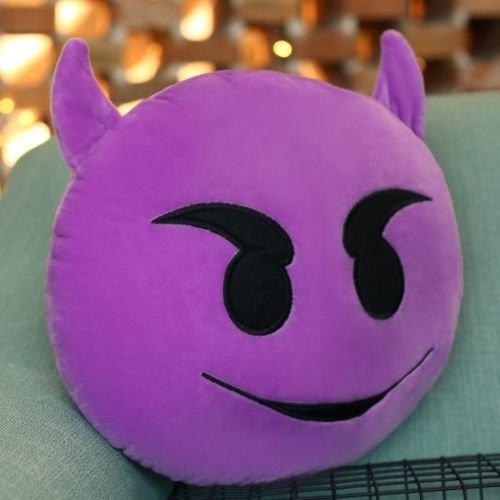 Markenlos Diablo Emoji Cojín, Smiley, cojín Emoji Topo ...