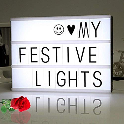 light box, cinematic lightbox / A4 message light box / Cinema Box with 350 letters,numbers and symbols by FSC