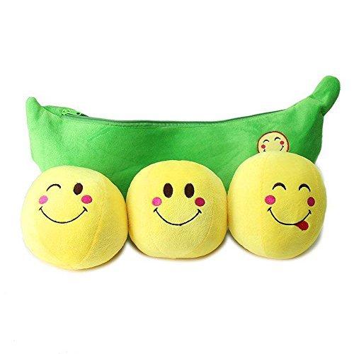 (1 pcs Cute Peas-in-a-Pod Plush Toys Stuffed Plush Doll Plush Pillow Baby Shower Birthday Gift Xmas Gift (Bean))