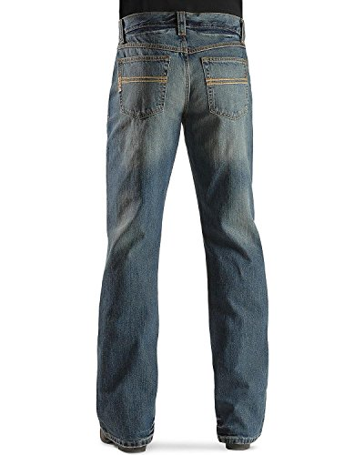 Cinch Men's Carter Relaxed Fit Jean,  Medium Stone Wash, 31W x 36L (Cinch Relaxed Fit Jeans)