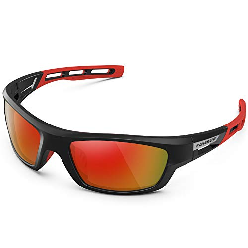 TOREGE Polarized Sports Sunglasses for Man Women Cycling Running Fishing Golf TR90 Unbreakable Frame...