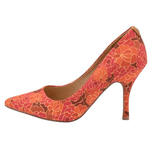 Floral Compensées Femme Helena Ravel Orange Sandales qwISqE6nR