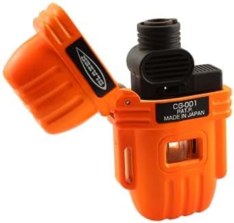 Blazer CG-001 Butane Refillable Cigar Torch Lighter, Blaze Orange