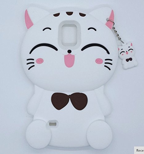 Galaxy Note 3 Cartoon Silicone Cover,Cute 3D Kitty Lucky Fortune Cat Design Phone Bag Soft Rubber Case for Samsung Galaxy Note 3 - Note 3d 3 Case Cartoon