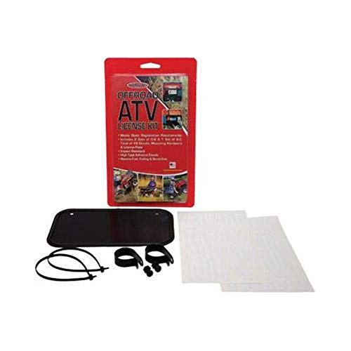 Hardline Products ATV License/Registration Kit - Black Aluminum Kit