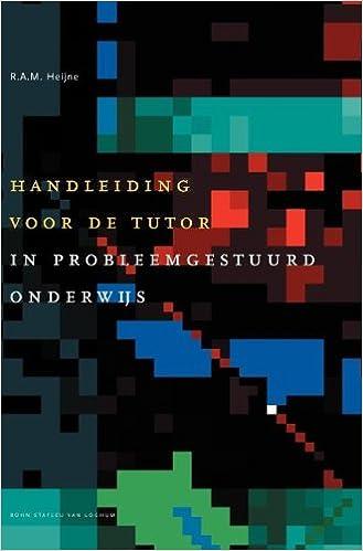 Handleiding voor de tutor in probleemgestuurd onderwijs ...
