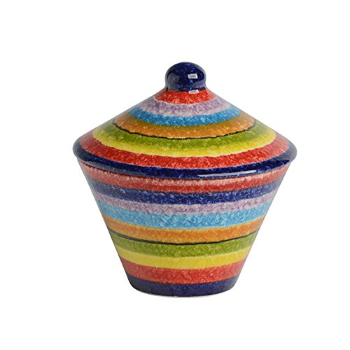 Italian Dinnerware - Sugar Bowl - Handmade in Italy from our POP Lines Collection