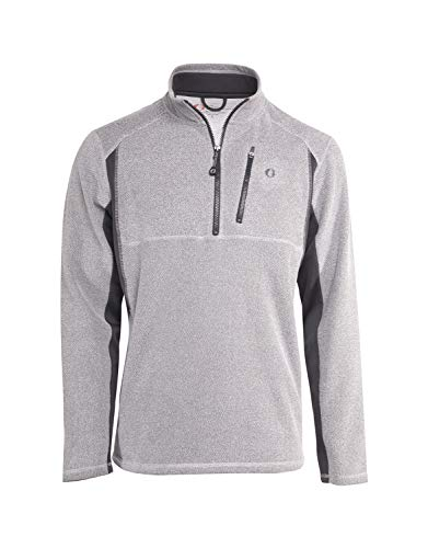 (American Outdoorsman Pique Faced Performance Fleece Pullovers for Men (Large, Grey))