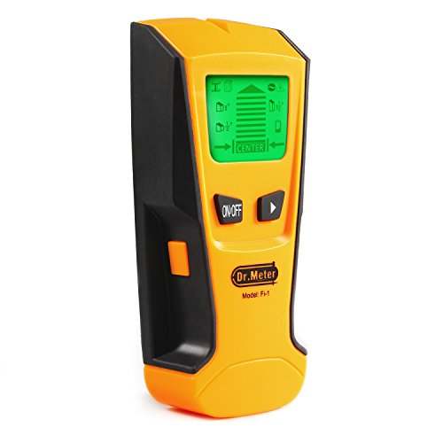 [Multi-Scanner Stud Finder] Dr.meter Stud Wall Sensor Finder Center-Finding with Live AC Wire Wood Scanner Warning Detection, Battery Included