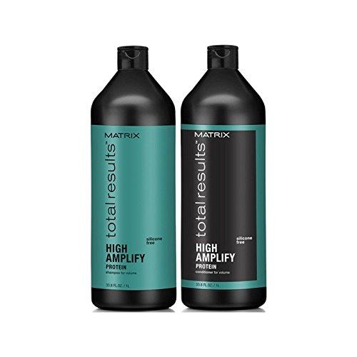 Matrix Total Results High Amplify Shampoo And Conditioner (1000ml) - マトリックスの合計結果は、高いシャンプーとコンディショナー(千ミリリットル)を増幅します [並行輸入品] B071KVHXRB