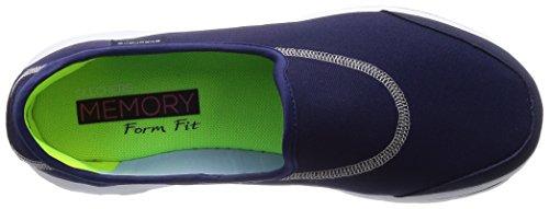 Skechers Performance Women Go Walk Impress Memory Foam Slip-on Walking Shoe Navy
