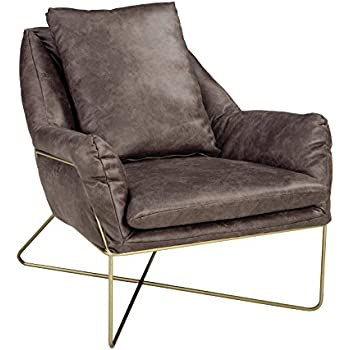 Baxton studio jericho leather mid century for Amazon mid century modern furniture