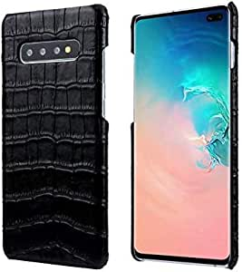 Samsung S10 PLUS Back Leather CASE cover - Black
