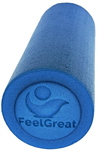 FeelGreat Foam Roller High Density Firm Core Physical Therapy, Pilates, Yoga, Massage Therapy, Medium Soft ()