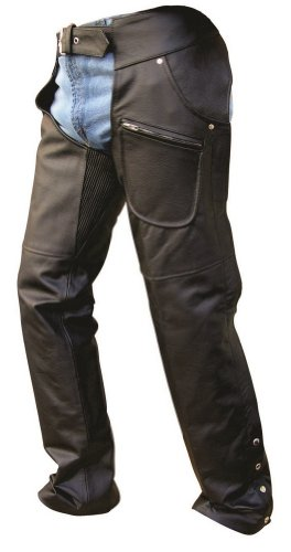 Unisex Adult AL2404 Chaps X-Small Black by Allstate Leather
