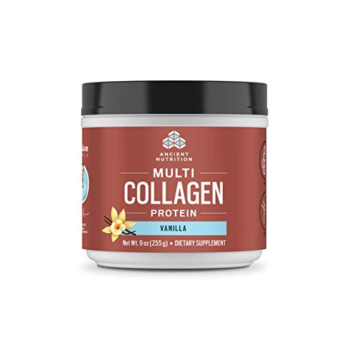 Ancient Nutrition Multi Collagen Protein Powder, Vanilla Flavor - 24 Servings