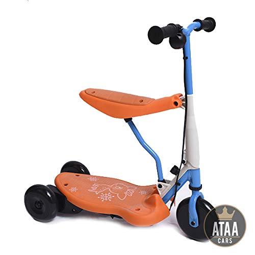 ATAA Triciclo Patinete eléctrico para niños Chick batería 6v - Rojo