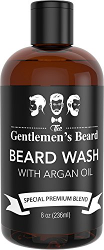 Beard Wash with Argan Oil - Beard Shampoo & Softener for Men - Essential Oils Aid Growth and Volume - Best Beard Grooming Products for All Types of Beards - Handcrafted in the USA