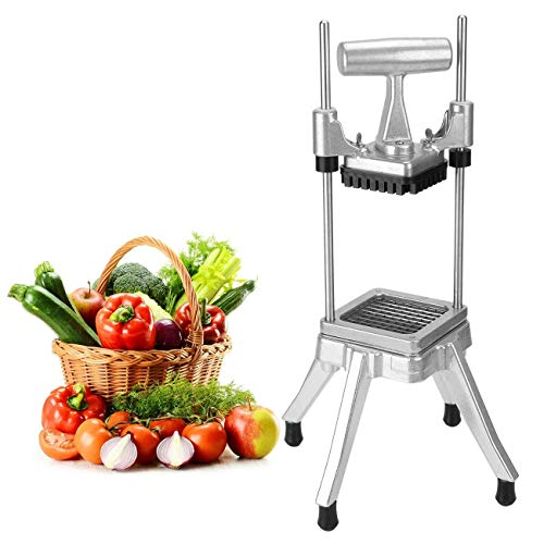 """WICHEMI Vegetable Fruit Dicer Commercial Easy Chopper Dicer Cutter Kattex Chopper Stainless Steel for Onion Tomato Peppers Potatoes Mushrooms (1/4"""" Blade)"""
