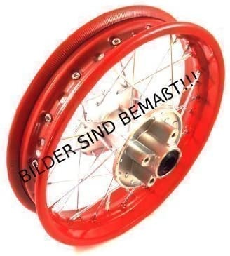 Red Rear Hmparts Pit Bike Dirt Bike cross 1x Steel Rim 1.85x12 Inch